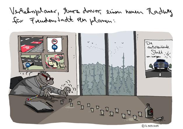 Beispiel-Cartoon vom Cartoonisten Hannes Mercker: G20 (zum G20-Gipfel in HH)