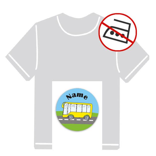 runde Kleidungsaufkleber für kurzfristige Markierung der Kleidung - ohne Aufbügeln - pvc-frei - Motiv: Segelboot