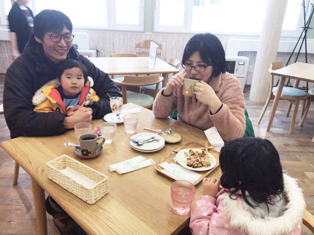 枝幸町にあるにじの森カフェでは、父さんやお母さんが、ゆっくり食事を楽しんでいただけます。