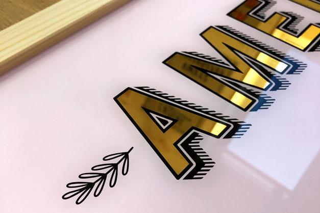 Online-Shop für Schriftenmalerei und Blattvergoldung Atelier Winterthur - Zürich - Schweiz