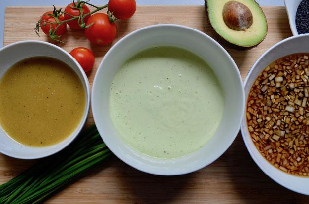 Salat Dressings einfach und lecker