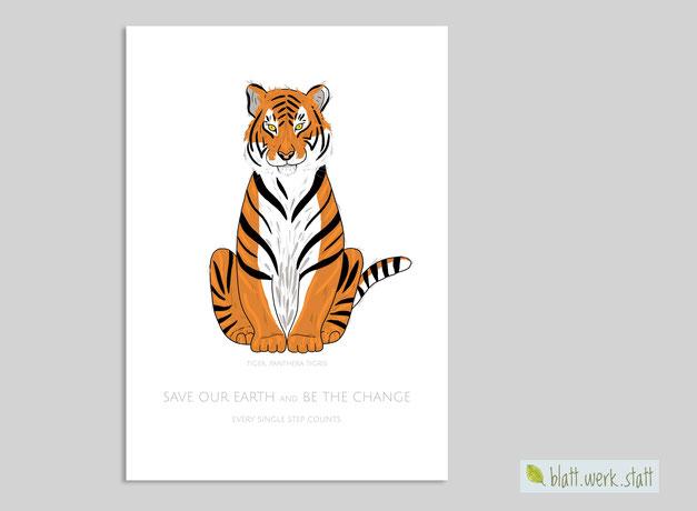 Tigerposter von blatt.werk.statt