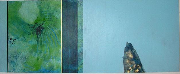 Nr. 2006-HO-015: 100 x 40 cm, Acryl auf MDF, Unter Wasser