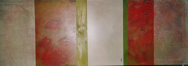 Nr. 2003-HO-020: 140 x 50 cm, Acryl auf MDF, Maskenball