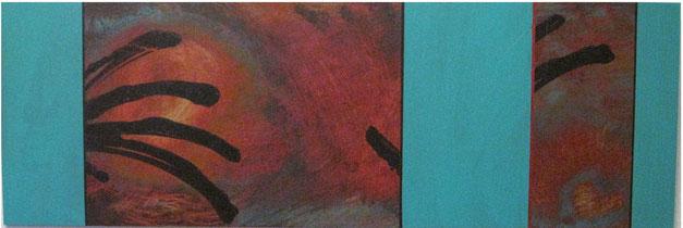 Nr. 2007-HO-006: 120 x 40 cm, Acryl auf MDF