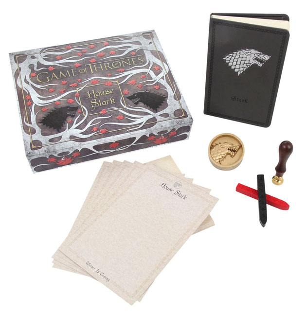 Game of Thrones Stark set de escritorio
