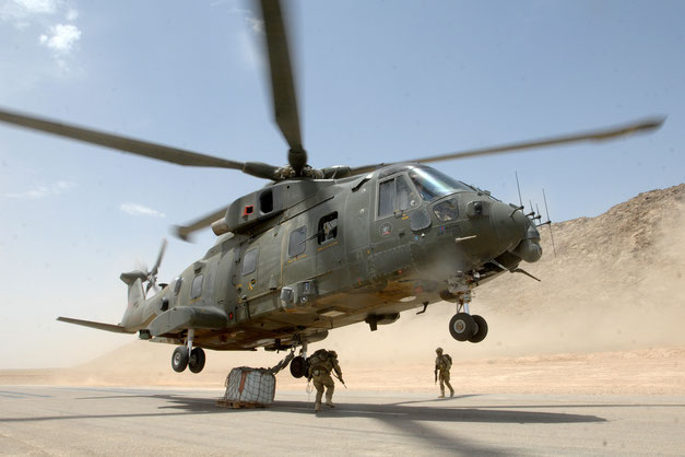 Merlin della RAF in Afghanistan / © RAF