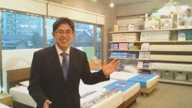 マニフレックス専門店「マニステージ福岡」八代目店長 遠山