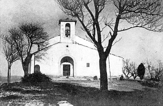 Campobasso chiesa di Santa Maria del Monte prima del restauro del 1911