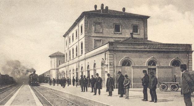 Termoli stazione ferroviaria inizio Novecento