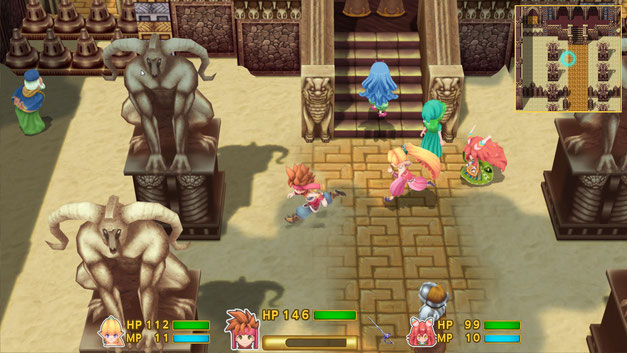 Secret of Mana, Remake, Square Enix, SNES, Super Nintendo, RPG, Mana, Popoi, Prim, Randi, Thanatos, Mana Festung, Mana Baum, 1993, Imperium, Playstation 4, PS Vita,
