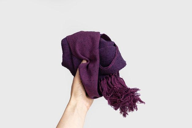 Schal aus Seide & Baumwolle