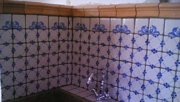 mattonelle dipinte e fatte a mano 10 x 10 - ceramica artistica