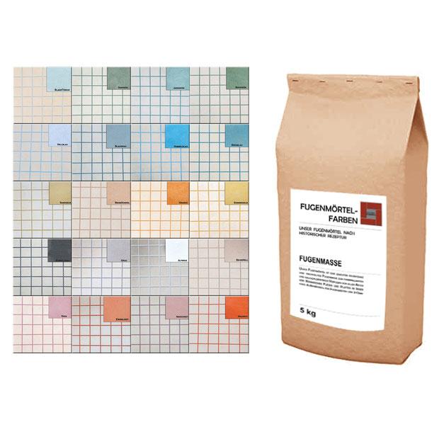 unser farbiger Fugenmörtel in 8 Farbvarianten für schmale Fugen