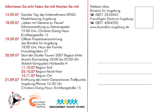 Bundesweite Woche des bürgerschaftlichen Engagements 2007 in Augsburg vom 14. bis 21. September 2007