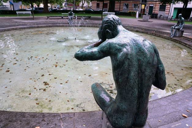 Brunnen-Statue in Zürich