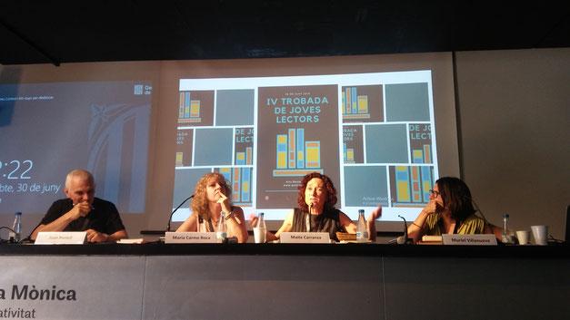 D'esquerra a dreta: Joan Portell, Maria Carme Roca, Maite Carranza, Muriel Villanueva