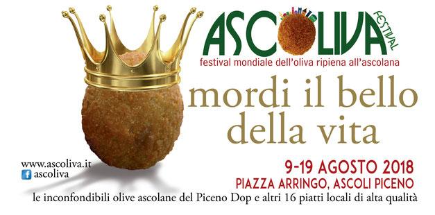 Ascoliva Festival, dal 9 al 19 Agosto 2018, ad Ascoli Piceno