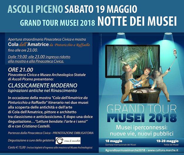 Notte dei Musei, sabato 19 Maggio, Ascoli Piceno