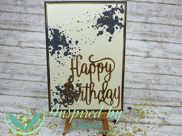 "Thinlits ""Happy Birthday"" Stampin' Up!"
