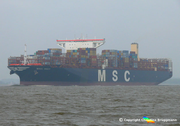 MSC INGY, Pegasus-Klasse von SHI gebaut. Größte MSC Containerschiffe