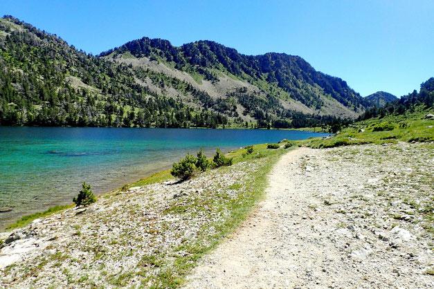 Le Lac d'Aumar, dans sa partie Sud.
