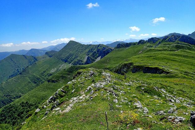 Le Col de Quiala, où je vais redescendre pleine pente.