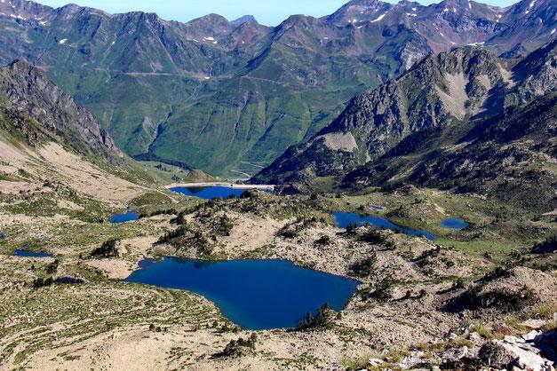 Toujours au zoom, le Lac Nère, le Lac dets Coubous, le Lac de Tracens.