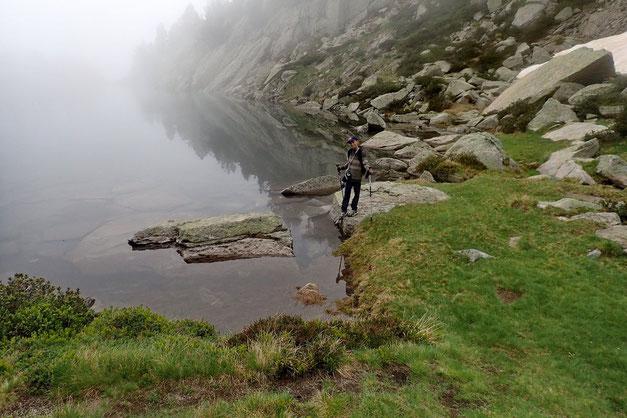 La partie Nord du Gourg de Rabas est la plus propice à une éventuelle baignade. On verra ça au retour.