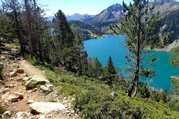 A l'approche du Lac d'Aubert.