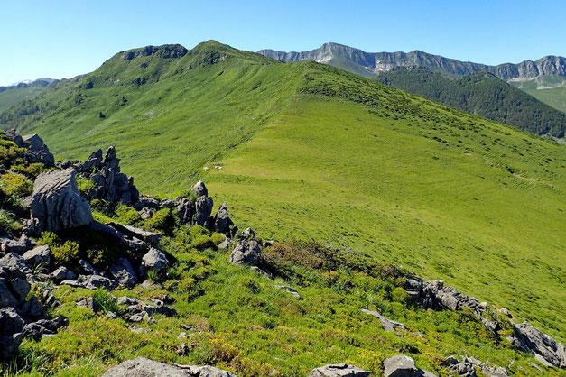 Sauf au Pic de La Peyrie que je contourne par la droite. La suite de la crête est tranquille...