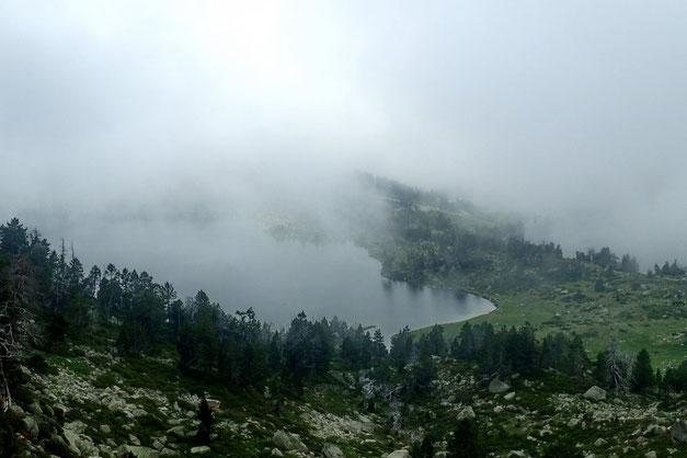 A nouveau le Lac d'Aumar se laisse découvrir.