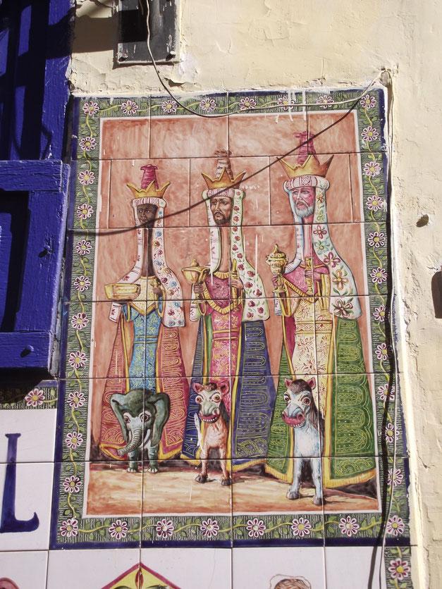art painted tiles Cusco Peru