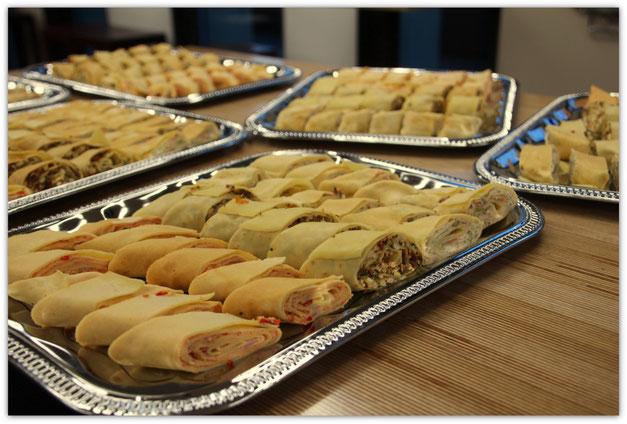 Crêpes apéritives, crêpes roulées, mini crêpes, pour les apéritifs d'entreprise, Crêpes at home