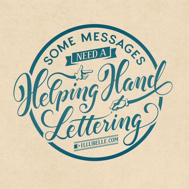 Helping Hand Lettering, www.juliakerschbaumer.com