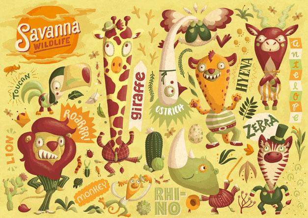 Savanna Wildlife, www.juliakerschbaumer.com