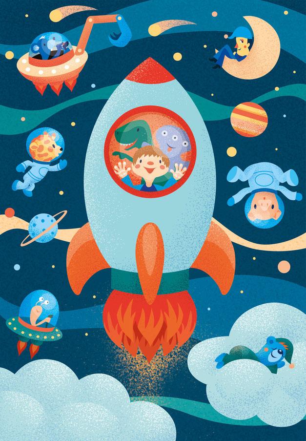 Rocket Poster, www.juliakerschbaumer.com