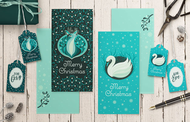 Christmas Stationery, juliakerschbaumer.com