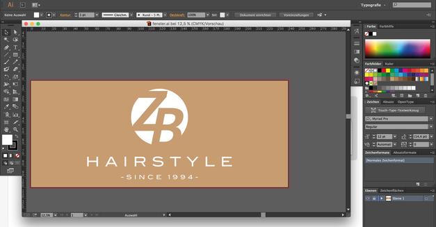Ladendesign für ZB-Hairstyle Frankfurt