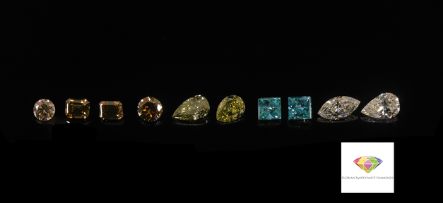 Fancy Diamonds Pink-Blue-Yellow-Green-Brown