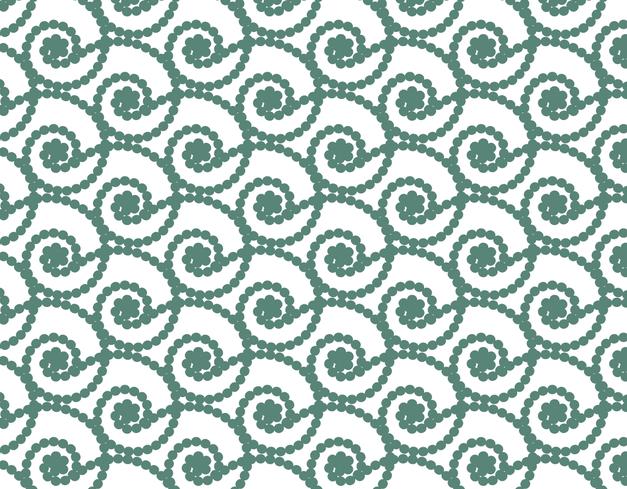 Grüne Perlenbänder