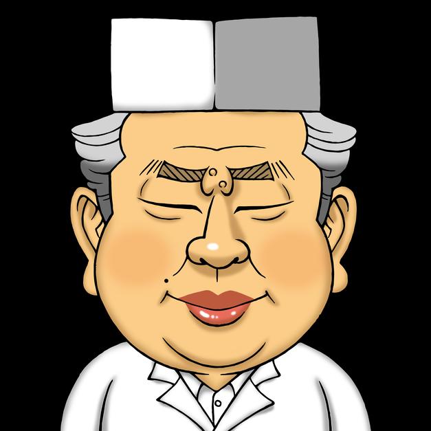 SNSのプロフィール画像として使用する似顔絵