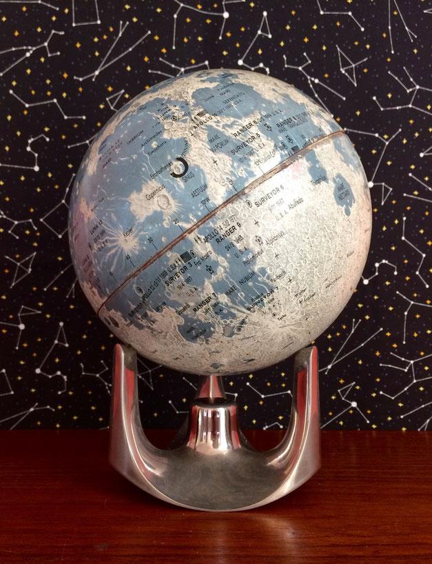 JOLI, globe lunaire, scan-globe, globe lunaire ancien, globe lunaire vintage