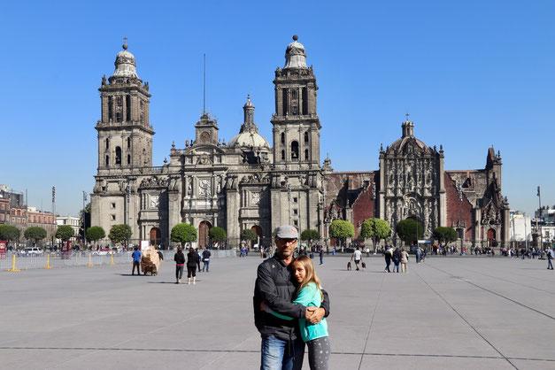 Zocalo & Cathedral in Mexico City Centre