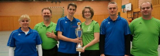 KSC-Siegermannschaft (v.l.): Gabi, Reiner, Felix, Lydia, Klaus und Norman