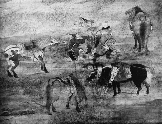 Chevaux et voyageurs. Petrucci, Tchao Mong-fou.