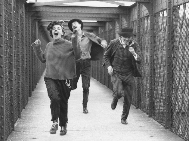 """""""Jules et Jim"""" en film af François Truffaut om et kærlighedsforhold mellem tre mennesker"""