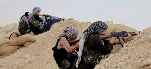 Fighterne fra det kurdiske  kvindebataljon YPJ ved Afrin