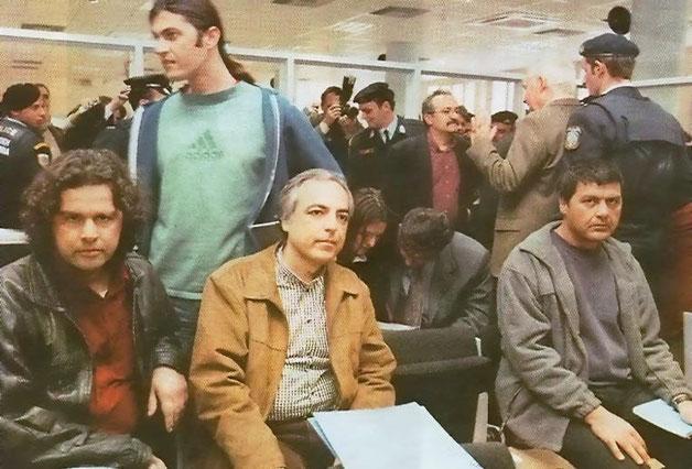 Fængslede medlemmer af guerillaorganisationen 17N , Athen, juli 2002