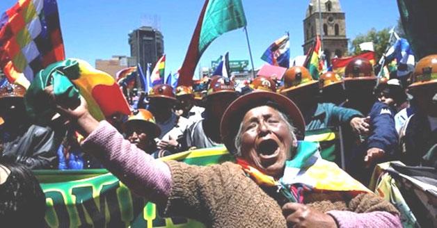 Støttedemonstration for Evo Morales